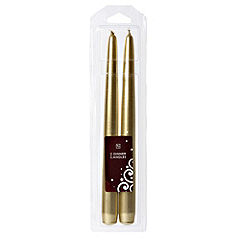 Tu Gold Metallic Taper Candle 2-pack