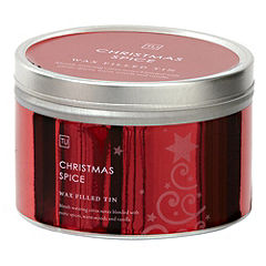 Tu Christmas Spice Candle Tin with Lid