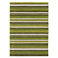Tu Green Stripe Rug