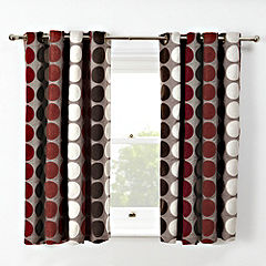 Tu Chenille Spot Red Curtains