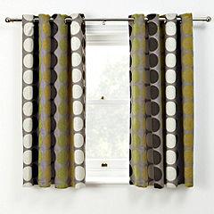 Tu Chenille Spot Green Curtains