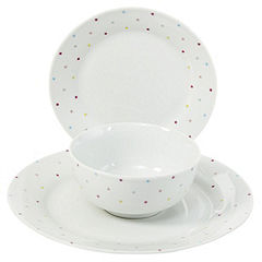 Tu Ditsy Polka Dot 12-piece Dinnerware Set