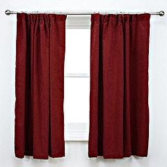 Tu Plain Red Chenille Curtains