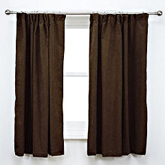 Tu Plain Chocolate Chenille Curtains