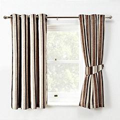 Tu Chenille Stripe Natural Curtains