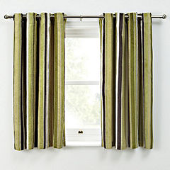 Green Striped Curtains | Teal Curtain UK