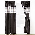 Tu Black Panel Pencil Pleat Curtains