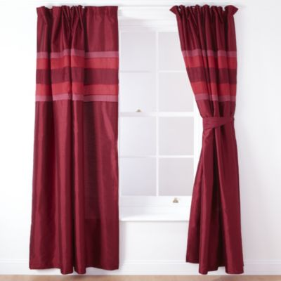 Tu Red Panel Pencil Pleat Curtains - image 1