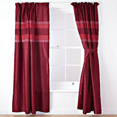 Tu Red Panel Pencil Pleat Curtains