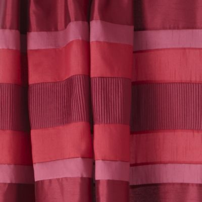 Tu Red Panel Pencil Pleat Curtains - image 2