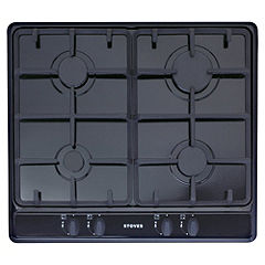 Stoves SGH600C Integrated Black Gas Hob