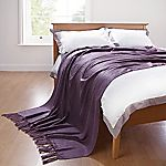 Home Collection Purple Mohair Look Throw