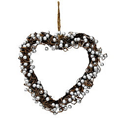 Tu Silver Berry Wicker Heart