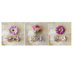 Pink Flowers Canvas Art Prints Set of 3
