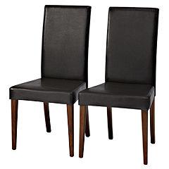 Sheds & Garden Furniture Kensington Dark Pair of Upholstered Dining Chairs