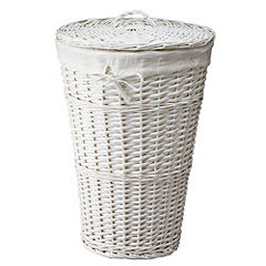 Sainsbury's White Willow Laundry Basket