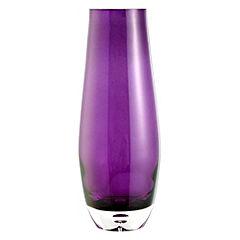 Tu Heavy Ice Purple Glass Vase