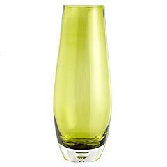 Tu Heavy Ice Green Glass Vase