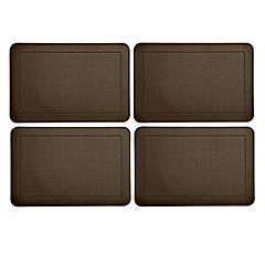 Tu Chocolate Faux Leather Placemats 4-pack