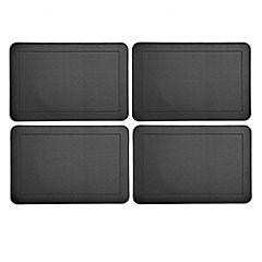 Tu Black Faux Leather Placemats 4-pack