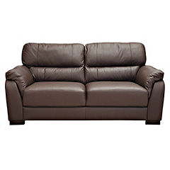 Palma Chocolate Leather Large Sofa