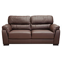 Palma Large Chocolate Leather Sofa