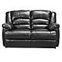 Rosa Regular Black Advantage Leather Recliner Sofa