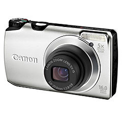 Canon  Silver PowerShot A3300 IS 16 Megapixel Digital Camera