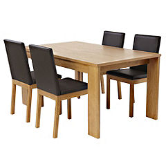 Sussex Oak Veneer Extending Dining Table