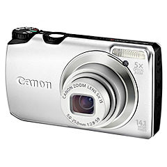 Canon Silver PowerShot A3200 IS 14.1 Megapixel Digital Camera