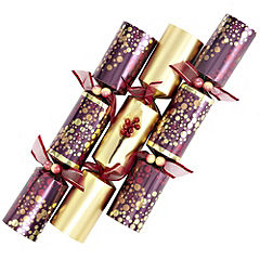 Sainsbury's 6-pack Luxury Tray Purple and Gold Crackers