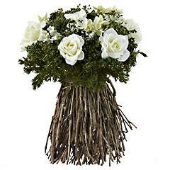 Tu Freestanding Cream Rose Bouquet