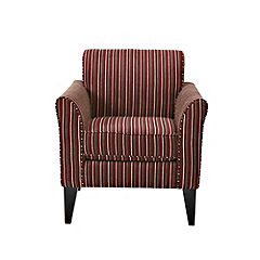 Ambrose Berry Stripe Chair
