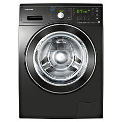 Samsung WD8704RJD Black Washer Dryer