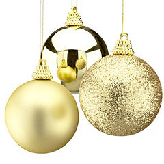 Sainsbury's Gold 40mm Baubles 24-pack