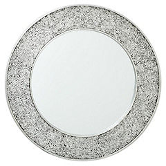Round Crackle Mirror