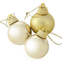 Sainsbury's Gold 30mm Baubles 20-pack