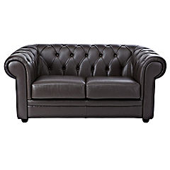 Raffaella Regular Chocolate Leather Sofa