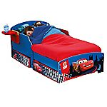 Cars Toddler Bed with Underbed Storage and Bedside Shelf