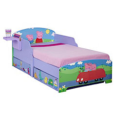 Peppa Pig Toddler Bed with Bedside Shelf and Under-bed Storage