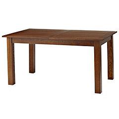 Dark Oak Veneer Extending Dining Table
