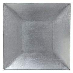 Tu Silver Square Charger Plate