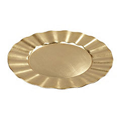 Tu Gold Art Deco Charger Plate