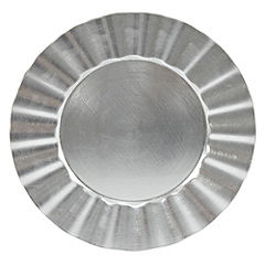 Tu Silver Art Deco Charger Plate