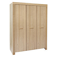Melbourne Oak Veneer 3-door Wardrobe