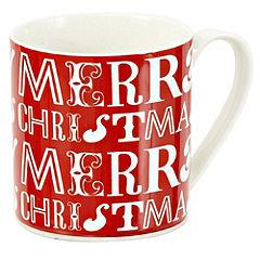 Tu Red Merry Christmas Fine China Mug