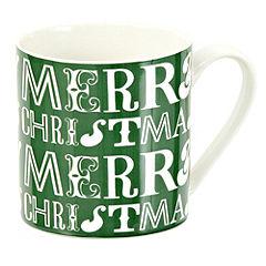 Tu Green Merry Christmas Fine China Mug