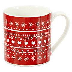 Tu Red Scandinavian Style Christmas Fine China Mug