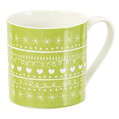 Tu Green Scandinavian Style Christmas Fine China Mug