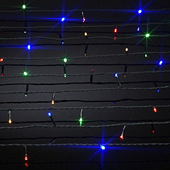 Sainsbury's 80 Coloured LED Lights with Green Cable